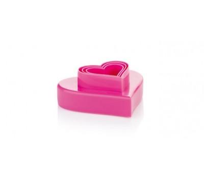 630862 Двухсторонние формочки сердечки DELICIA, 6 размеров