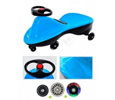 Машинка детская с полиуретановыми колесами «БИБИКАР СПОРТ» голубой (Bibicar, blue colour)