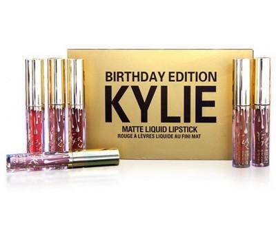 Жидкая матовая помада Kylie Birthday Edition (набор 6 оттенков)