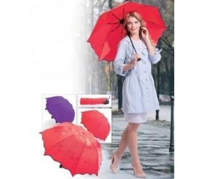 Зонт с проявляющимся рисунком (фиолетовый) (Umbrella with appeared pics when it is wet (purple))