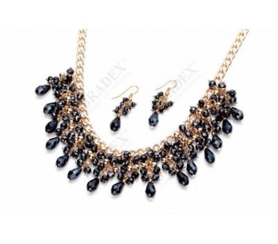 Комплект «ВЕСЕННЯЯ КАПЕЛЬ» (Set: necklace with earrings ST140071)
