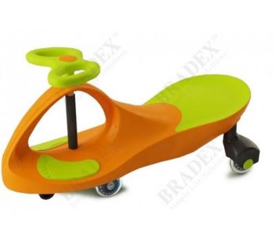 Машинка детская с полиуретановыми колесами салатово-оранжевая «БИБИКАР» (Bibicar, new type, orange- green colour, PU wheels)